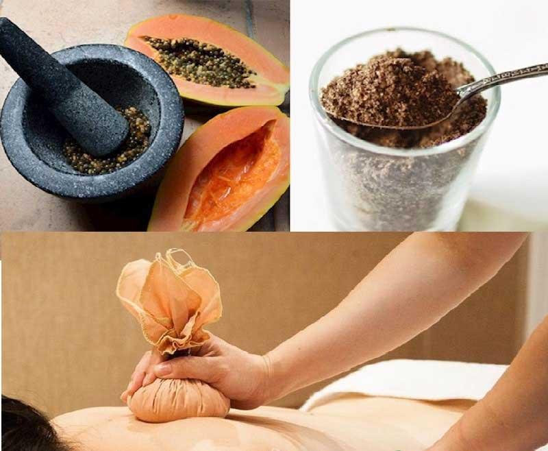 Cách chữa gai cột sống bằng cách đắp hạt đu đủ
